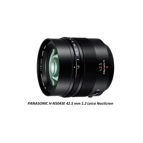 Optique PANASONIC H-NS043E 42.5 mm 1.2 Leica Nocticron chez PIXEL