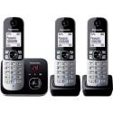 PANASONIC KXTG6823 Téléphone fixe DECT répondeur Trio