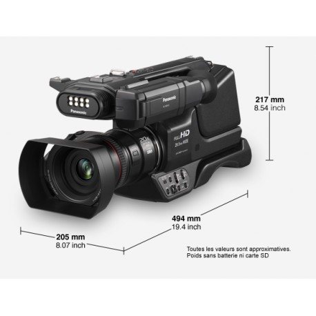 Panasonic HC-MDH3 Caméscope Semi-Pro Full HD