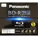 Panasonic Pack Blu-Ray Vierge 25 Go x 5