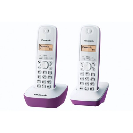 PANASONIC KXTG1612FRf TELEPHONE DECT DUO Parme