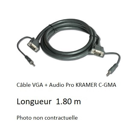 KRAMER C-GMA/GMA-6 VGA M/M CABLE VGA + Audio 1.80 M