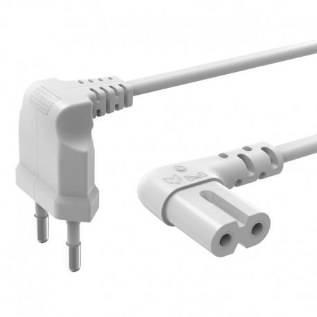 HAMA 137228 câble secteur coudé 5 mètres 2 pôles