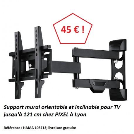 Hama 108713 support mural orientable TV jusqu'à 48' à Lyon